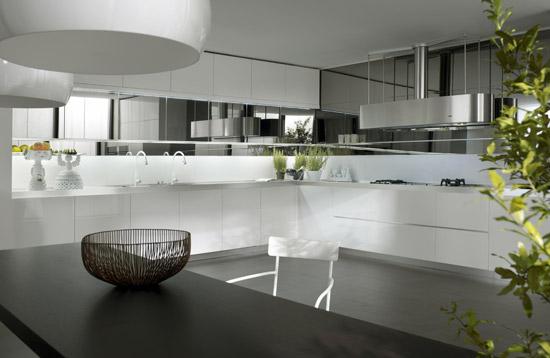 White Black Kitchen Designs picture idea from Salvarani