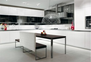 White Black Kitchen Designs picture ideas from Salvarani
