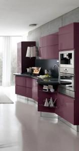 White Cabinet in Modern Italian Kitchen Design from Stosa