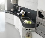 White Cabinet in Modern Italian Kitchens Designs from Stosa