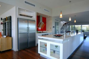 White gloss kitchen schemes designs picture with wooden floors