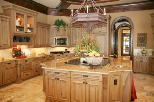 Wood cabinetry is center stage of kitchen