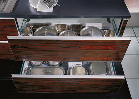 Wood glas kitchen eco friendly option is illuminated shelf with glass back panel