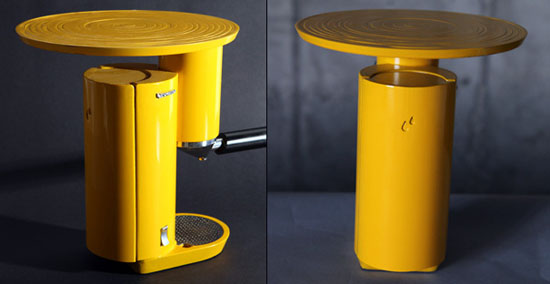 Yellow Espresso Machine look good on coffee design by Yaniv Berg