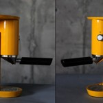 Yellow Espresso Machine look good on coffee designed by Yaniv Berg