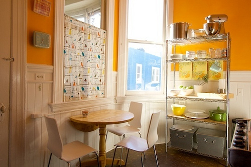 Yellow decorative kitchen painting colorful designs