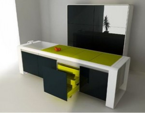 all in one modern Kitchen Island with several elements