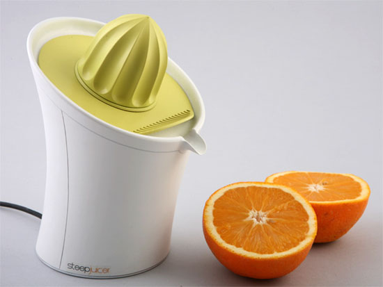amazing Orange Juicer in yellow and white color by Jackob Mazor