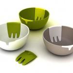 amazing ceramic salad bowls for completing moderns kitchen design