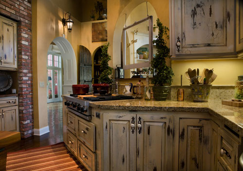 An old world french kitchen attributes in modern style for Old country style kitchen ideas