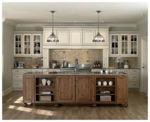 antique white kitchen cabinets Antique White Kitchen Cabinets Ideas for Small Kitchens with Chocolate Glaze white kitchen cabinets