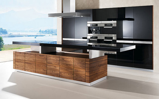 automated kitchen island with height adjustable worktop create cocktail bar atmosphere