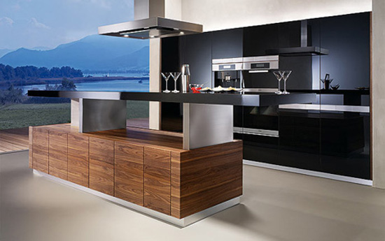 automated kitchens island with height adjustable worktop create cocktail bar atmosphere