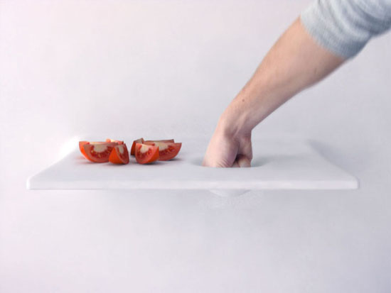 automatic kitchen concept with technology called claytronics contain millions of tiny robot
