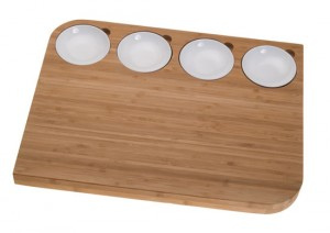 bamboo cutting boards is eco friendly with white colored melamine