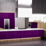 beautiful combination of purple and natural wood kitchen looks very chic and very useful by Spazzi