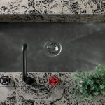 beautiful kitchen sink of timeless classic style of kitchen design with black metal