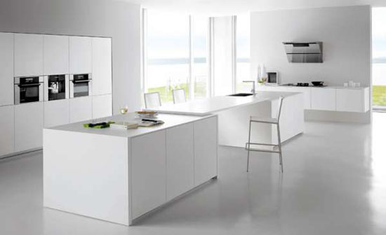 beautiful white kitchen inspired by islands in open sea gives fantastic results