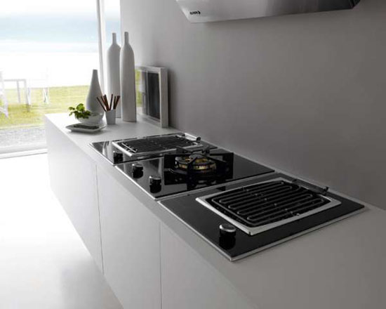 beautiful white kitchens inspired by islands in open sea gives fantastic result