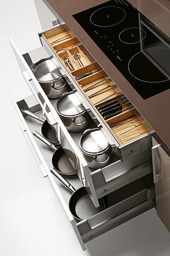 big kitchen with large smart storage solutions from quatro