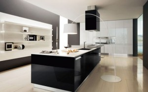 black and white kitchen interior decoration by Futura Cucine