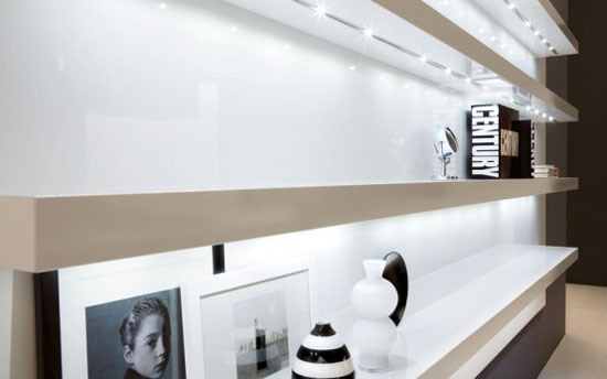 black and white kitchen interiors decoration by Futura Cucine