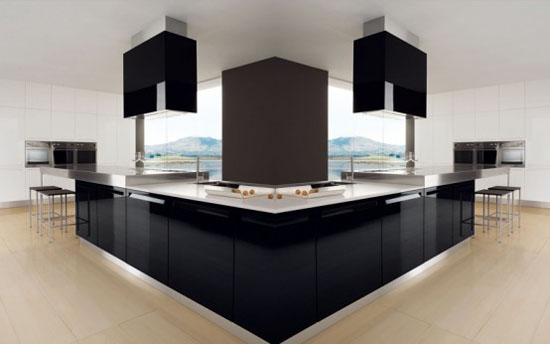black and white kitchens interior decoration by Futura Cucine