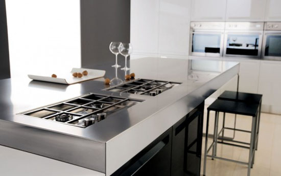 black and white kitchens interior decoration by Futura Cucines