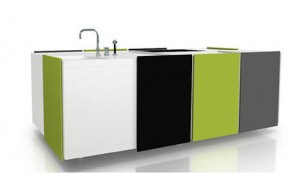 black green color compact kitchen simply ideal for moderns urban living