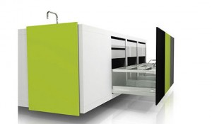 black greens color compact kitchen simply ideal for modern urban living