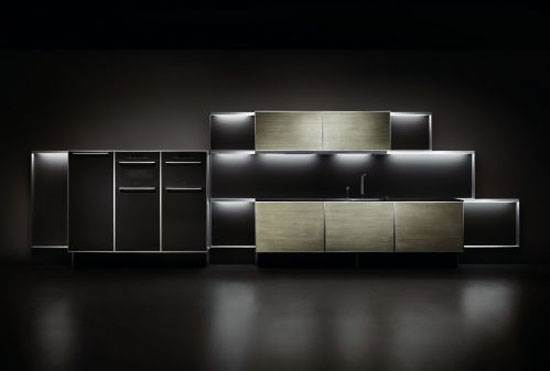 black kitchens as single color and elegant style blends dark wood