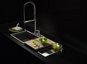 black stainless steel kitchen sink for modern kitchen