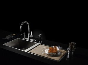 black stainless steel kitchen sink technology