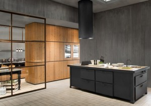 black timeless classic style of kitchen design with black metal