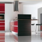 blue and red kitchen cabinets design easily accessible