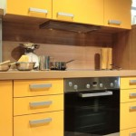 bold yellow color modern kitchen design pictures