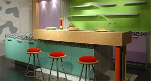 bright colors patterns style of kitchen gray color scheme make visual impact