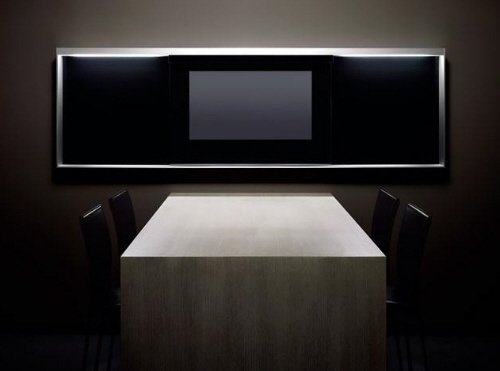 built-in multimedia LCD modern kitchen from Poggenpohl
