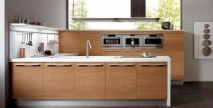 by snaidero glossy lacquer and wood in one contemporary kitchens designs.
