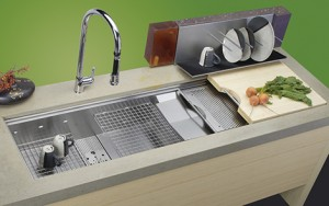cascade sink stainless steel design