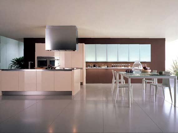Casual kitchen design in modern theme Dining-Room