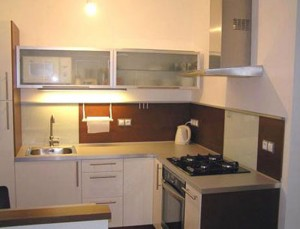 cheap kitchen design ideas by repainting kitchen cabinet and kitchen walls