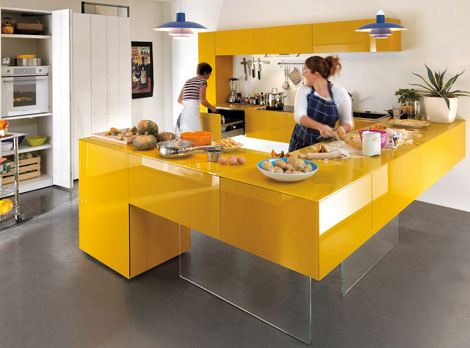 cheerful colors kitchen expressed in array hues cool lines and modular design