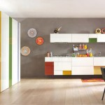 cheerful colors kitchen expressed in array of hues cool line and modular design