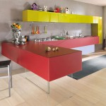 cheerful colors kitchen expressed in array of hues cool lines and modular design