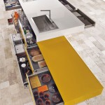 cheerful colors kitchen expressed in array of hues cool lines modular design