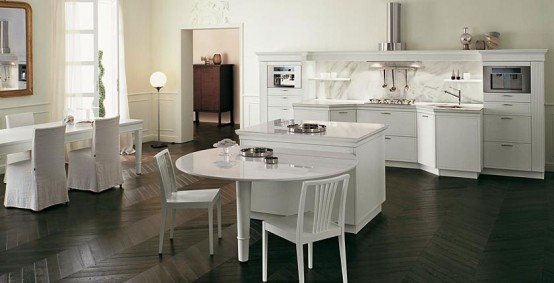 classical Italian renaissance Kitchens create a warm and ambience