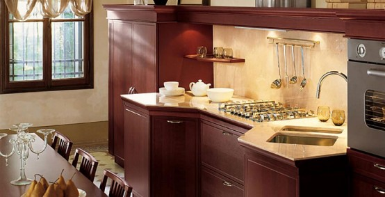 classical Italian renaissance Kitchens create warm ambience
