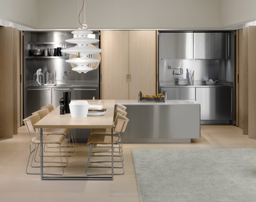 clean lines and simplicity modern kitchen design with stainless steel appliances