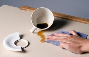 clumsy set complete with ceramic tea cup and saucer